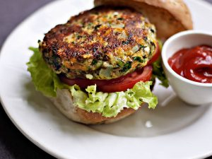 hamburguesas de lentejas light